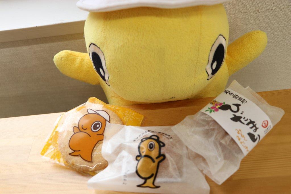 野田村イメージキャラクター「のんちゃん」 「大沢菓子店 まるきん」のお菓子