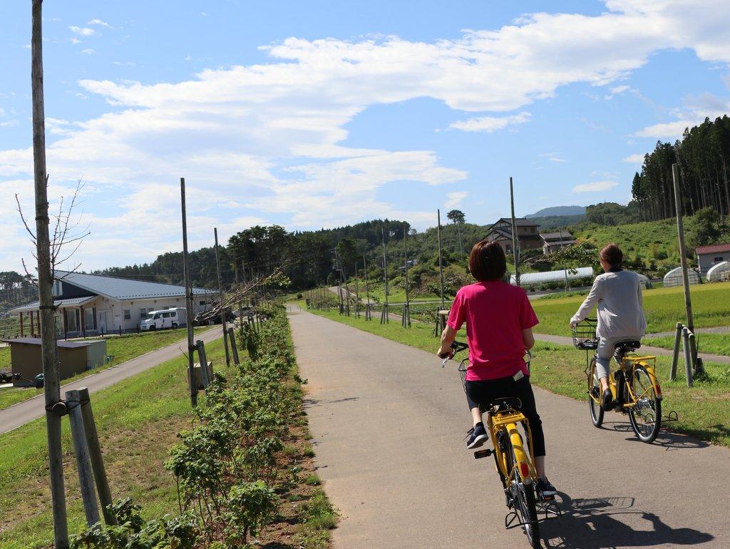 電動アシスト自転車レンタサイクル「のんチャリ」 十府ヶ浦公園の遊歩路