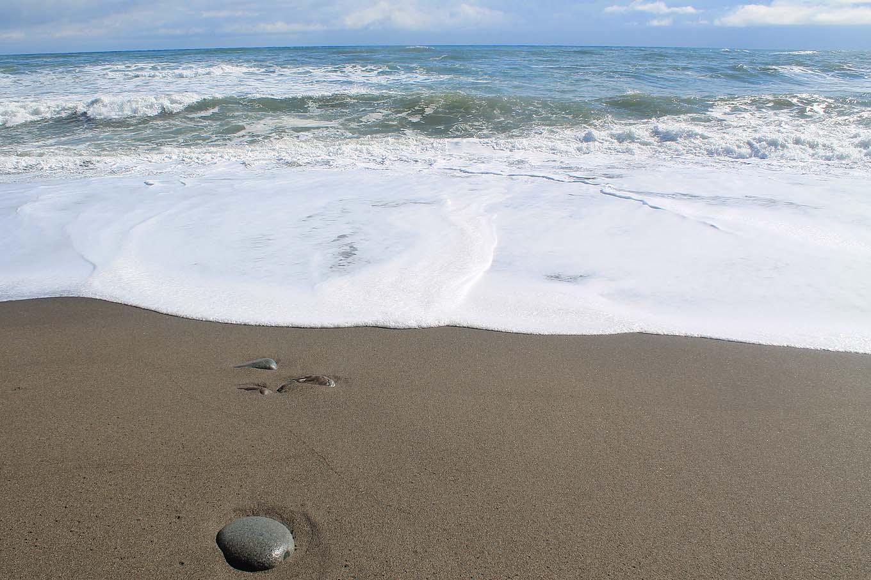 玉川海岸の砂浜(岩手県野田村)