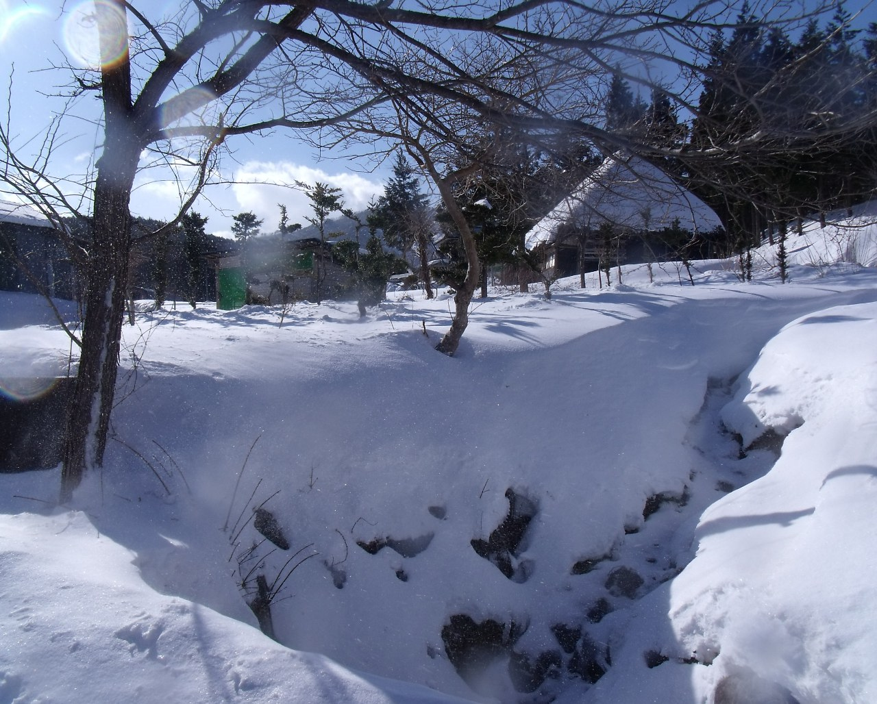 日形井の冬景色(岩手県野田村)