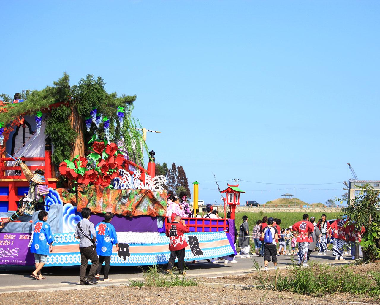 復活の山車(岩手県野田村)