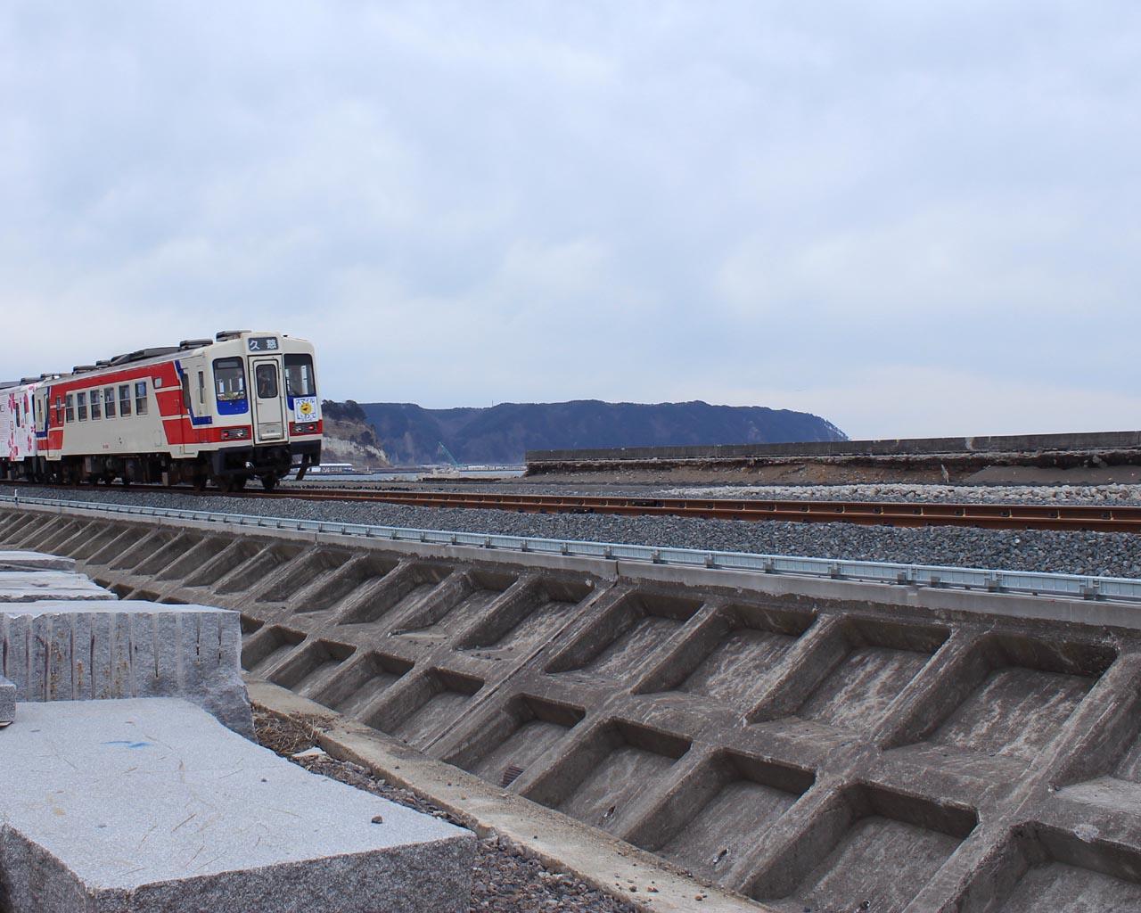 三陸鉄道、運行再開(岩手県野田村)
