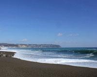 冬の十府ヶ浦海岸(野田村)